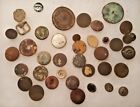 OLD Lot 37 Brass American Military Buttons 1700s 1800s Civil War Dug Antique