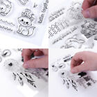 DIY Animals Flowers Transparent Clear Silicone Stamps Scrapbook Card Album Craft