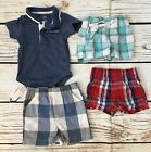 Lot Baby Boy 0 3 Months Plaid Shorts Collared Shirt Calvin Klein Jumping Beans