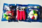 3pks Comal Tackle Cigar Floats Bobbers Crappie Fishing UN Weighted Orange USA