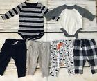 Mixed Lot Baby Boys 0 3 Months Long Sleeve Bodysuits Pants Carters Cat And Jack