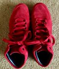 Under Armour Curry 1 Lux Mid Suede Red Black 1296617 600 Mens SZ 13 Used