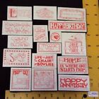 MARY ENGELBREIT All Night Media Foam Mt Stamps SAYINGS Phrases Words Misc Lot 16