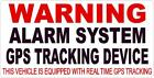 4 Warning Alarm System Gps Tracking Device Theft Truck Car Outside Window Decal