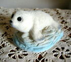American Sand Art Baby Seal Figurine On Ice Dated 1994