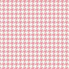 BTY MAYWOOD STUDIO 100 COTTON LITTLE ONE FLANNEL TOO HOUNDSTOOTH PINK 45W