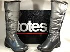 Totes Sarah Womens US Sz 9M Pewter Fur Lined Winter Boots Shoes X4 1099