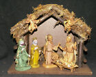 Fontanini Wood Italian Stable 5 Inch Scale Nativity Set Made in Italy 1983