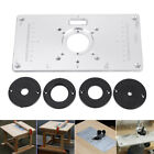 700C Router Table Insert Plate W/Rings Screws F/ Woodworking Benche Aluminium