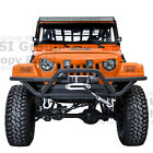 New Tubular Rock Crawler Front Bumper+Winch Plate for 97 06 Jeep Wrangler TJ