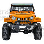 Rock Crawler Full HD Front Bumper+Winch Plate+2x LED for 97 06 Jeep Wrangler TJ