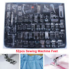 52x Domestic Sewing Machine Presser Foot Feet Tool Kit for Brother Janome Singer
