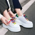 Fashion Womens Platform Lace up Athletic Sport Shoes Casual Run Sneakers Size