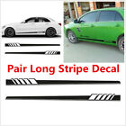 2Pcs Vinyl Decal Sticker Sports Racing Race Long Stripe Decals For Car Body Kits