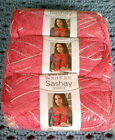 NEW Red Heart Boutique Sashay Sparkle Yarn Salmon Package of 3