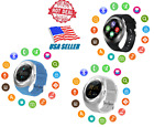 Waterproof Smart Watch For IOS & Android Pedometer Camera Text Call Touch Screen