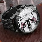 Oulm Men's 2 Movement Big Dial Stainless Steel Strap Sports Wrist Watch 3548 ET