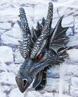 Large 16 Inch Tall Medieval Dragon Head Wall Hanging Figurine Gothic Fantasy