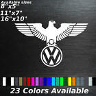 Volkswagen German Eagle Decal Sticker Vw Logo Flag German Dub Vdub Vr6 Turbo