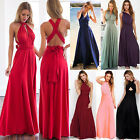 Women Cocktail Dress Convertible Multi Way Wrap Bridesmaid Formal Long Dresses