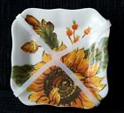 Maxcera Sunflower  Acorn Appetizer Dishes Set of 4 NEW