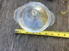 FIRE KING BOWL WITH LID  CLEAR GLASS  SMALL