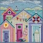 Cabana Beach Cross Stitch Kit Mill Hill 2018 Buttons  Beads Spring MH141815