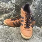 Mens Vintage Retro ADIDAS ROM Brown Leather Casual Sneakers Size 14