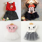 Toddler Kids Baby Girls Outfits Clothes T shirt Tops + Tutu Dress Skirt 2Pcs Set