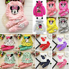 2PCS Toddler Kid Baby Girl Clothes Outfits Minnie Mouse T shirt Tops + Pants Set