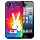 PERSONALIZED RUBBER CASE FOR iPHONE 5S 5C SE 6 6S PLUS PURPLE PINK TIE DYE PEACE