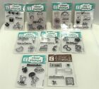 Studio G SEASONS Month Calendar Holidays Mini Clear Rubber Stamps Lot of 9