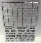 Save the Date CALENDAR Planner Months Days Clear Rubber Stamp Set