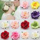 Womens Big Rose Blossom Flower Wedding Hair Clip Hairpin Brooch Pin US Flowery