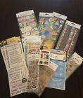 Scrapbooking Stickers 17 pc set assorted including birthday stencils rub ons