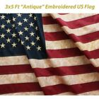 The USA Flag Vintage New 3 x 5 Foot Antique American Cotton Made in USA 4th July