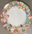 222 Fifth Marley Teal Floral Dinner Plates Set Of 4