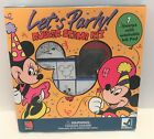 Disney Rubber Stampede LETS PARTY Mickey Mouse Birthday Foam Rubber Stamps