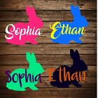 Personalized Easter Basket Bunny Sticker VINYL DECAL ONLY