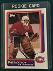 Scarce 1986 Topps PATRICK ROY Rookie Card  #53 Montreal Canadiens; MInt