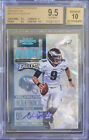 BGS 9.5 2012 CONTENDERS NICK FOLES (01 20) CRACKED ICE RC TICKET AUTO 10 EAGLES!
