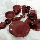 Fiestaware Retired Cinnabar 41pc LOT Set Creamer Platter Salt Pepper Gravy Boat