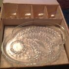 8 pc. Snack Plate and Cup Set in Homestead by Federal Glass~FREE SHIPPING