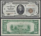 USA 20 Dollars 1929 (VF++) Condition Banknote Brown Seal National Currency