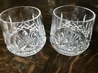 2 Waterford Crystal LISMORE Old Fashioned Rocks Glass Tumbler Ireland
