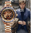 Luxury Sport Analog Men Cheap Watch Stainless Steel Gold Golden Automatic NEW
