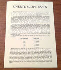 Vtg Original John Unertl Optical Co. Unertl Scope Bases Advertising Brochure