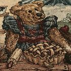 Boyds Bears Throw Pillow Tapestry Sweetie Pie Baker Mom Baby Bear Roped 12x18