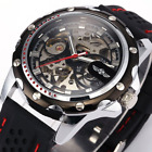 Men's Automatic Self Winding Tourbillon Skeleton Exotic Sport Watch