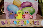 Ty DAFFODIL,LAVENDER, & SPRINGY EASTER BASKET BEANIE CHICKS-2013-MWNMT-NICE GIFT
